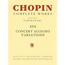 PWM Concert Allegro Variations (Chopin Complete Works Vol. XIII) PWM Series Softcover