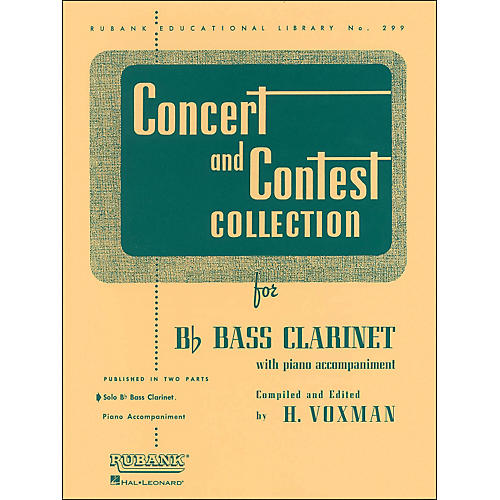 Hal Leonard Concert And Contest Collection for B Flat Bass Clarinet Solo Part Only
