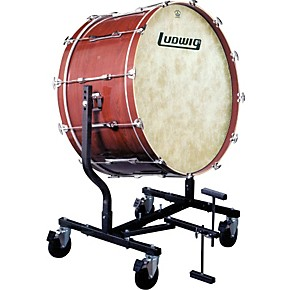 ludwig concert bass drum w fiberskyn heads le787 stand guitar center. Black Bedroom Furniture Sets. Home Design Ideas