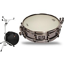 Mapex Concert Black Aluminum Snare Drum with Stand and Free Bag