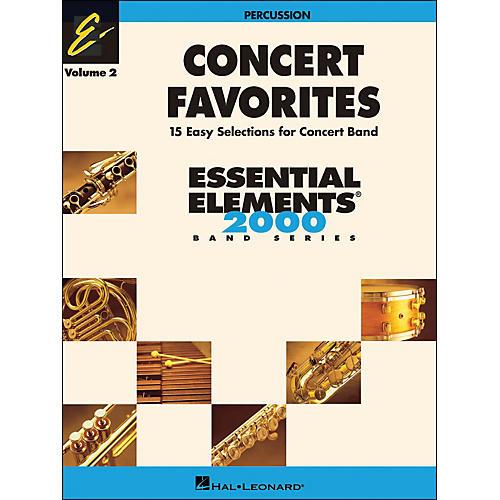 Hal Leonard Concert Favorites Volume 2 Percussion Essential Elements Band Series