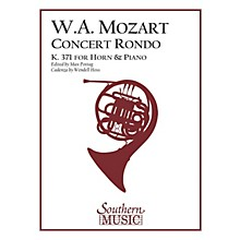 Southern Concert Rondo, K371 (in F) (Horn) Southern Music Series Arranged by Max Pottag & Hoss