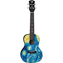 Luna Guitars Concert Ukulele Level 1 Starry Night