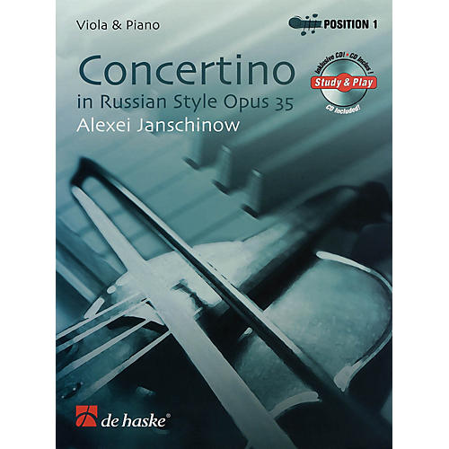 De Haske Music Concertino in Russian Style, Opus 35 (Viola & Piano) De Haske Solo Work CD Series by Alexei Janschinow