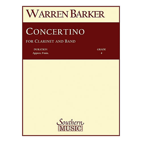 Southern Concertino (with Clarinet Solo) Concert Band Level 4 Composed by Warren Barker