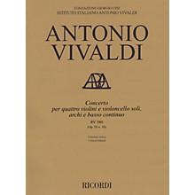 Ricordi Concerto B Minor RV 580, Op. III No. 10 String Orchestra Series Softcover Composed by Antonio Vivaldi