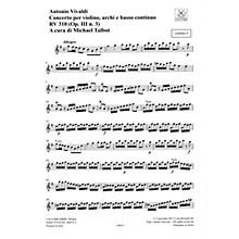 Ricordi Concerto G Major, RV 310, Op. III, No. 3 String Orchestra Series Softcover Composed by Antonio Vivaldi