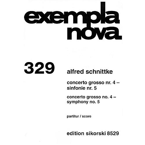 Sikorski Concerto Grosso No. 4 & Symphony No. 5 (Study Score) Study Score Series Composed by Alfred Schnittke