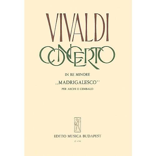 Editio Musica Budapest Concerto In Re Mionore  Madrigalesco EMB Series