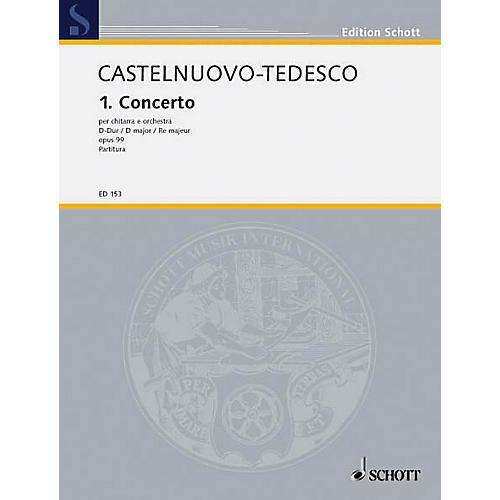 Schott Concerto No. 1 in D (Full Score) Schott Series Composed by Mario Castelnuovo-Tedesco