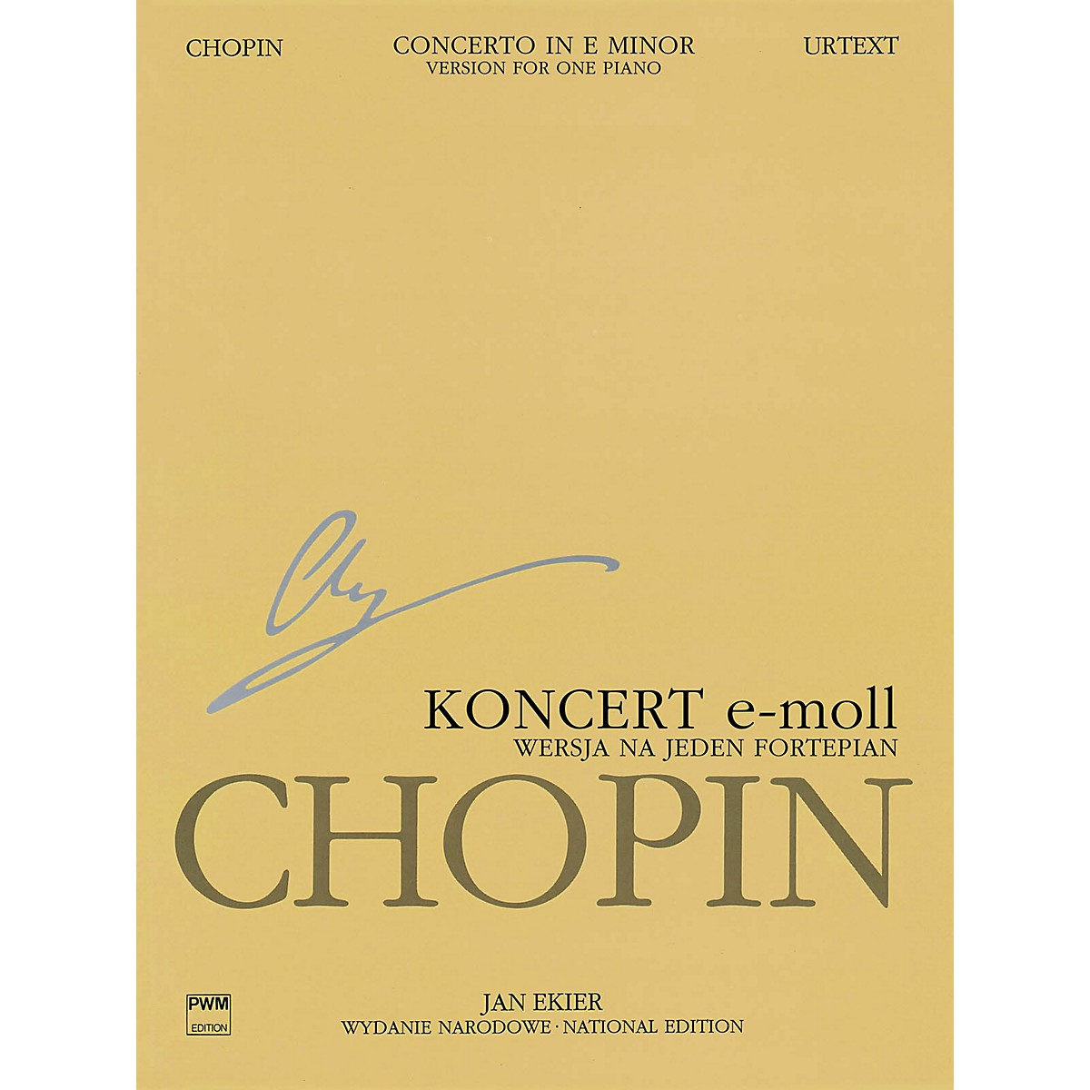 PWM Concerto No. 1 in E Minor Op. 11 - Version for One Piano PWM Softcover by Chopin Edited by Jan Ekier