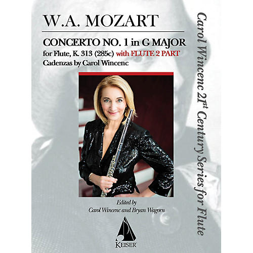 Lauren Keiser Music Publishing Concerto No. 1 in G Major for Flute, K. 313 (With Flute 2 Part) LKM Music Series Softcover