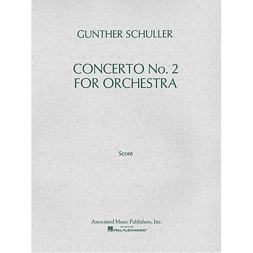 Associated Concerto No. 2 for Orchestra (1976) (Full Score) Study Score Series Composed by Gunther Schuller