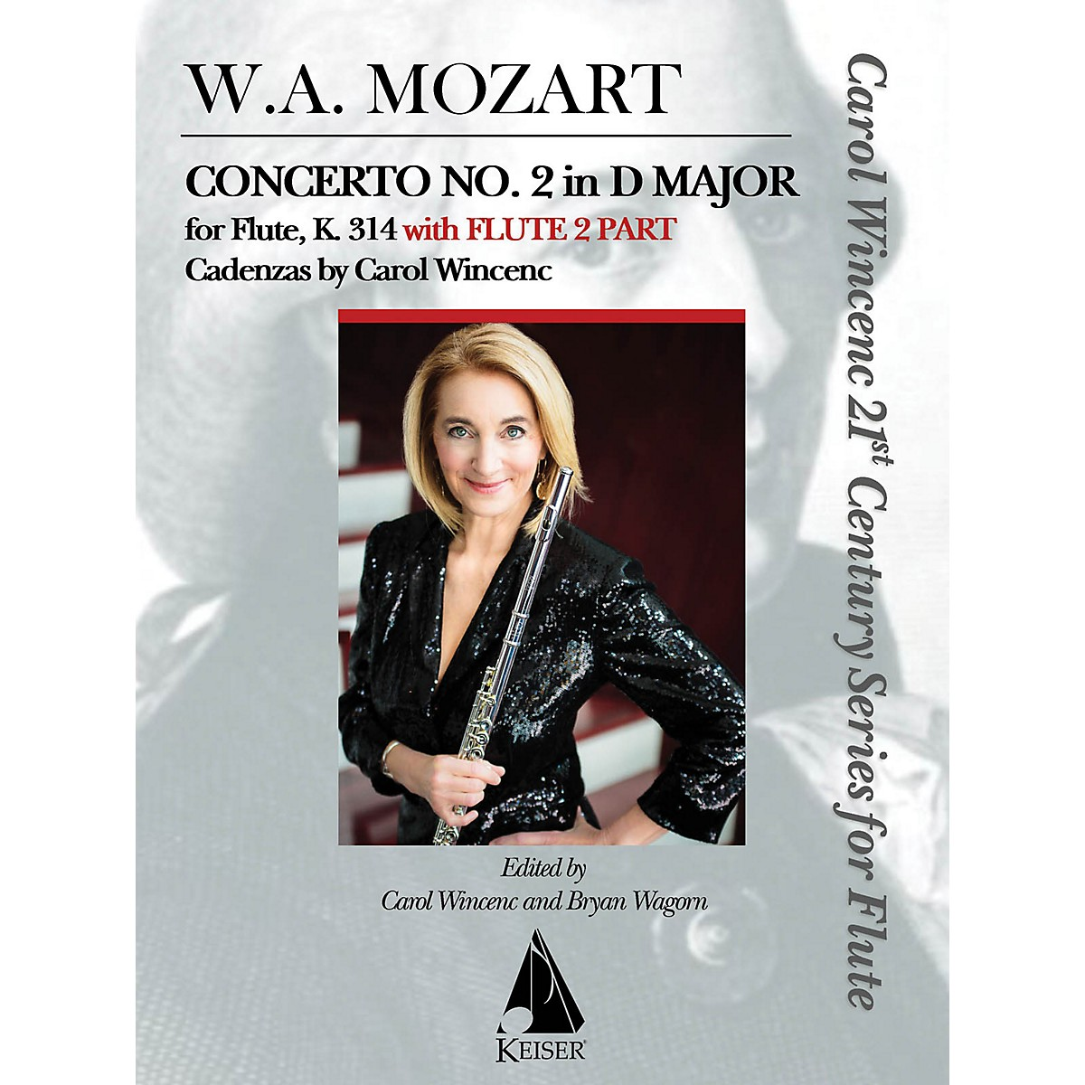 Lauren Keiser Music Publishing Concerto No. 2 in D Major for Flute, K. 314 (With Flute 2 Part) LKM Music Series Softcover
