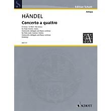 Schott Music Concerto a Quattro D Minor Schott Series Composed by Georg Friedrich Händel Arranged by Fritz Zobeley