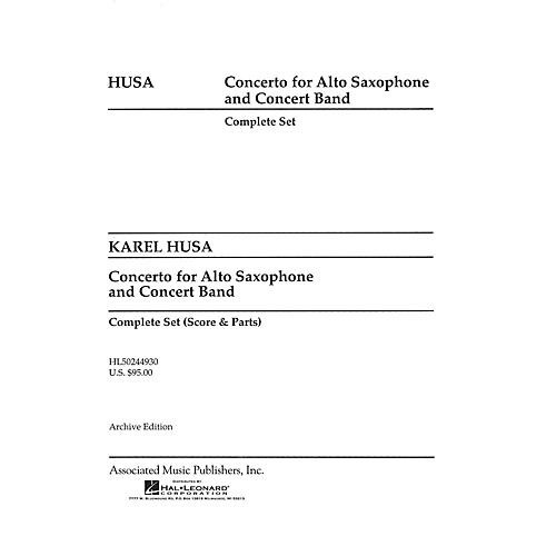 Associated Concerto for Alto Saxophone and Concert Band (Score and Parts) Concert Band Level 4-5 by Karel Husa