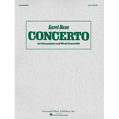 Associated Concerto for Percussion and Wind Ensemble (Study Score) G. Schirmer Band/Orchestra Series by Karel Husa