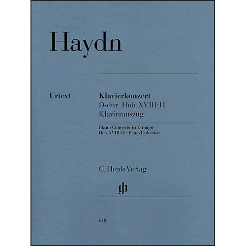 G. Henle Verlag Concerto for Piano (Harpsichord) and Orchestra D Major Hob.XVIII:11 By Haydn