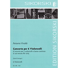 Sikorski Concerto for Six Violoncellos String Series Composed by Antonio Vivaldi Arranged by David Geringas