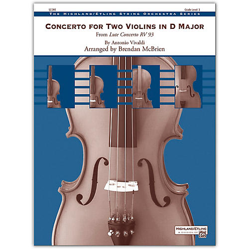 Alfred Concerto for Two Violins in D Major Conductor Score 3