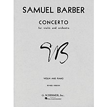 G. Schirmer Concerto for Violin Op 14 with Piano Reduction By Barber