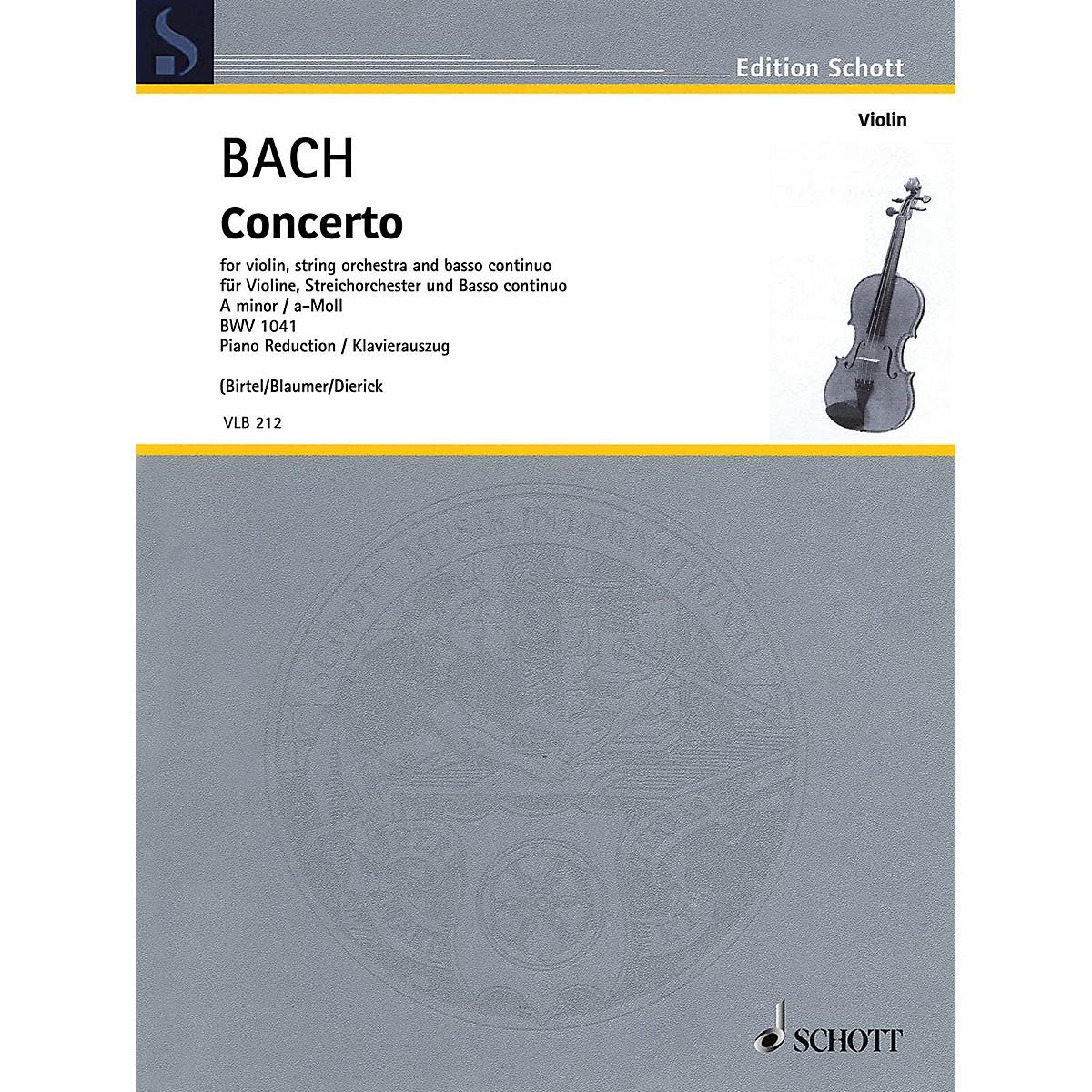 Schott Concerto in A Minor BWV1041 Violin and Piano Reduction - String Solo