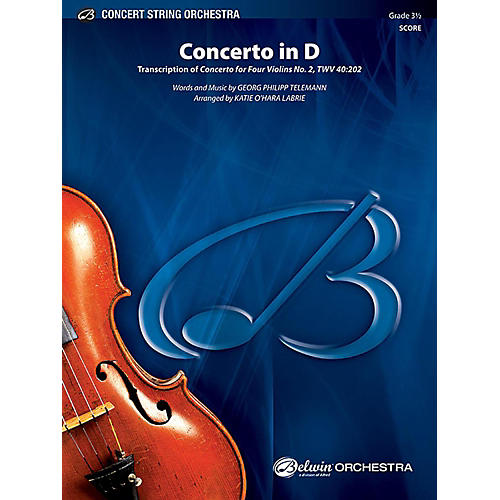 Alfred Concerto in D String Orchestra Grade 3.5 Set