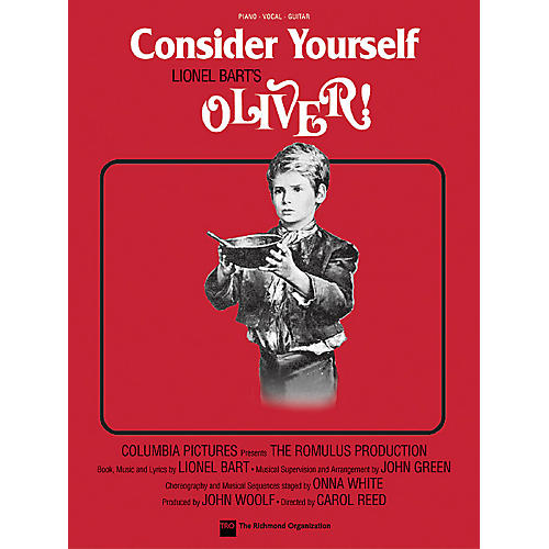 TRO ESSEX Music Group Consider Yourself (from Oliver!) Richmond Music ¯ Sheet Music Series