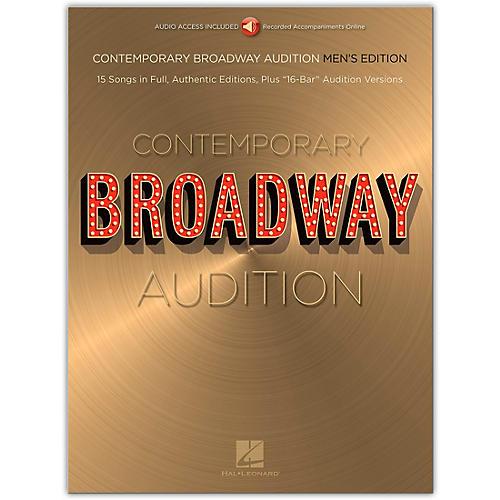 Hal Leonard Contemporary Broadway Audition: Men's Edition - Book/Online Audio Full Song + 16-Bar Version