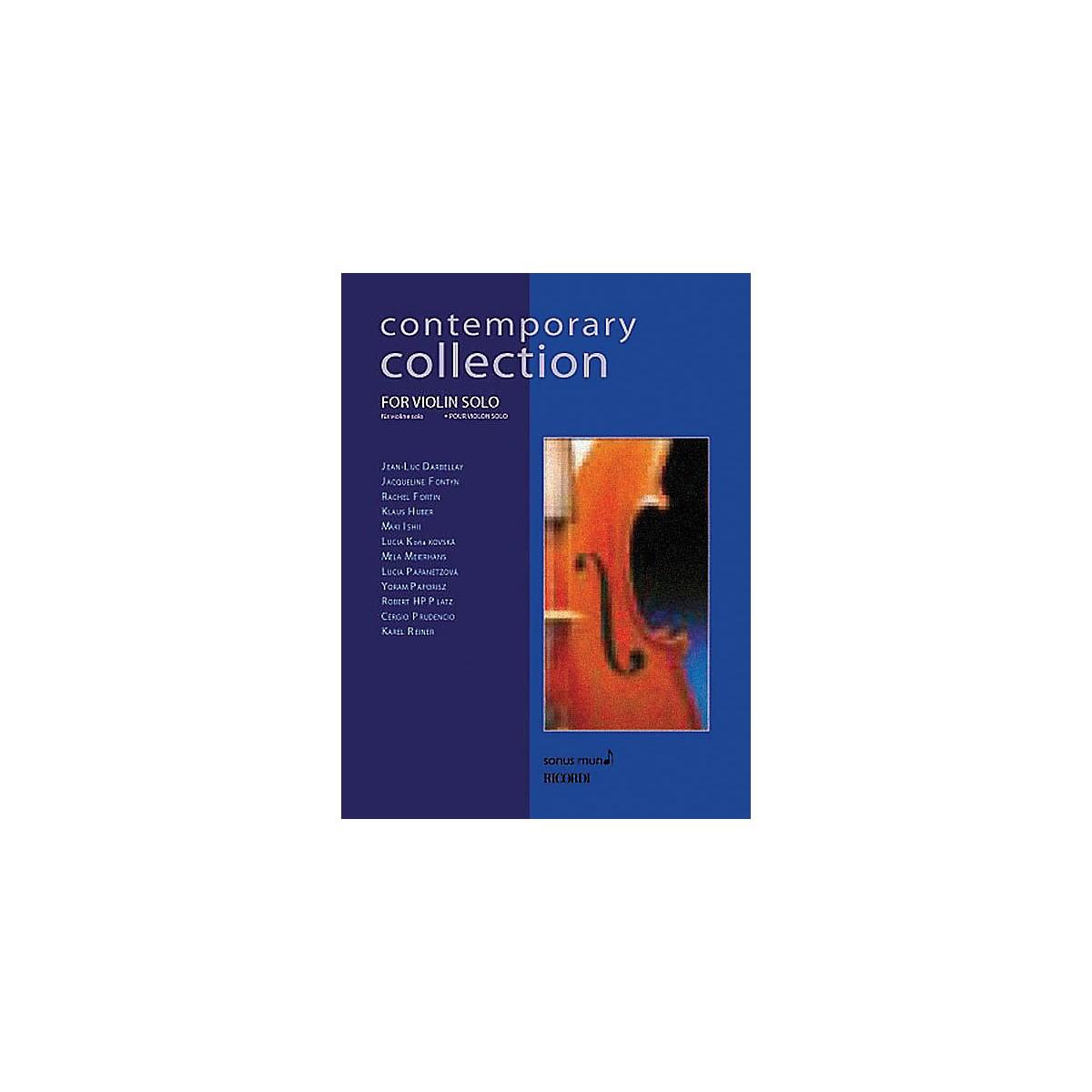 Ricordi Contemporary Collection for Violin Solo String Solo Series Softcover