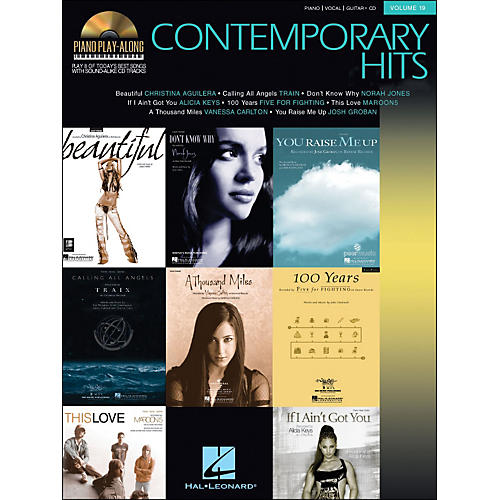 Hal Leonard Contemporary Hits Volume 19 Book/CD Piano Play-Along arranged for piano, vocal, and guitar (P/V/G)