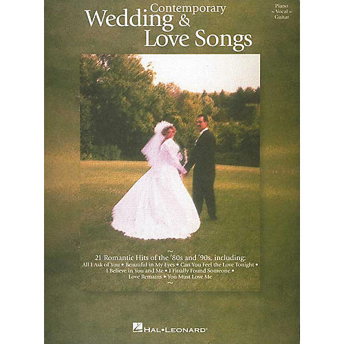 Hal Leonard Contemporary Wedding and Love Songs Piano/Vocal/Guitar Songbook