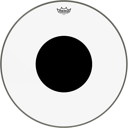 Remo Controlled Sound Clear with Black Dot Bass Drum Head