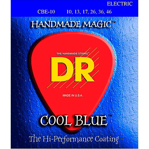 DR Strings Cool Blue Coated Electric Strings Medium (10-46)