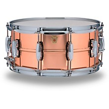 Ludwig Copper Phonic Smooth Snare Drum Level 1 14 x 6.5 in. Smooth Finish with Imperial Lugs