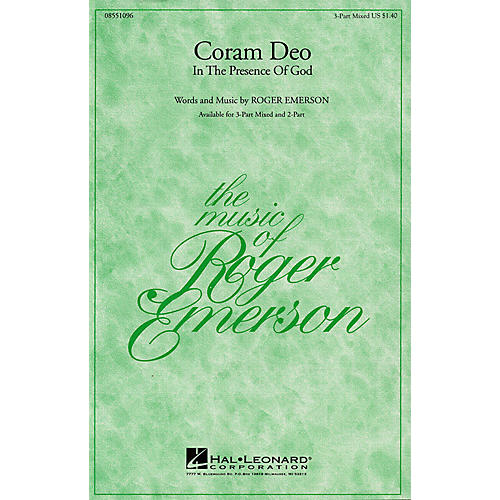 Hal Leonard Coram Deo (In the Presence of God) 3-Part Mixed composed by Roger Emerson