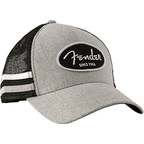 Fender Core Trucker Hat with Side Stripes