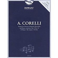 Dowani Editions Corelli: Sonata for Descant (Soprano) Recorder & Basso Continuo Op. 5, No. 10 D Major Dowani Book/CD