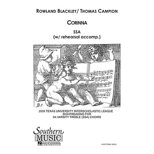 Hal Leonard Corinna (Choral Music/Octavo Secular Ssa) SSA Composed by Blackley, Rowland