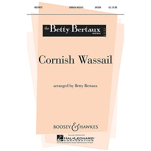Boosey and Hawkes Cornish Wassail (Betty Bertaux Series) UNIS arranged by Betty Bertaux