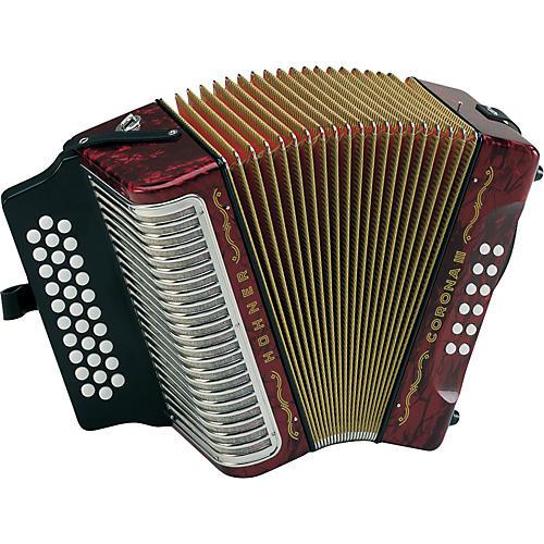 hohner corona iii gcf accordion pearl red guitar center. Black Bedroom Furniture Sets. Home Design Ideas
