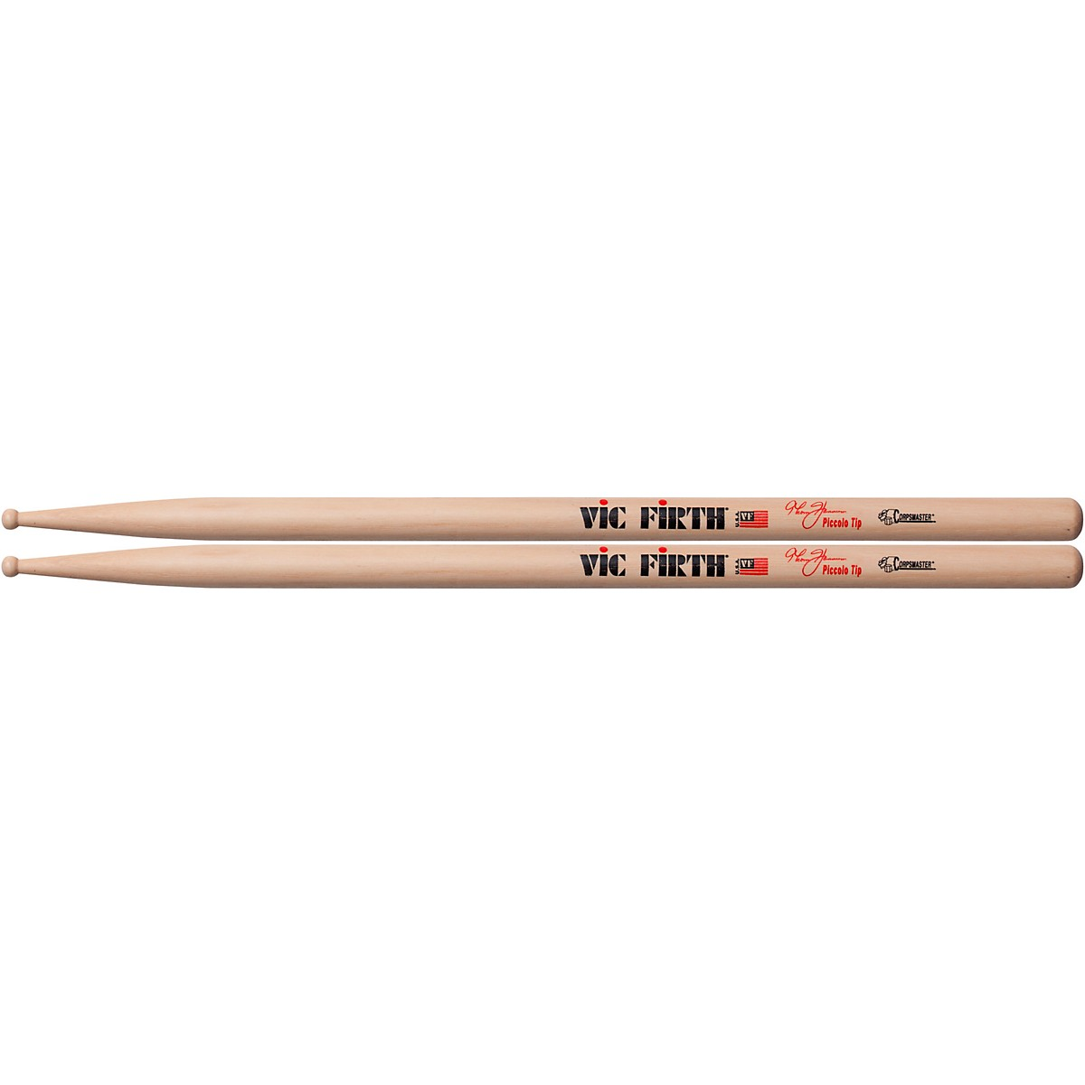 Vic Firth Corpsmaster Thom Hannum Piccolo Tip Snare Sticks