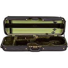 Corregidor Professional Oblong Suspension Violin Case 4/4 Size Black Exterior, Green Interior