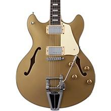 Corsair Semi-Hollow Electric Guitar Gold Top