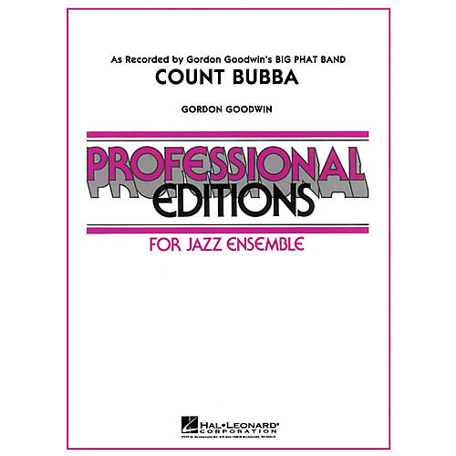 Hal Leonard Count Bubba Jazz Band Level 5 Composed by Gordon Goodwin