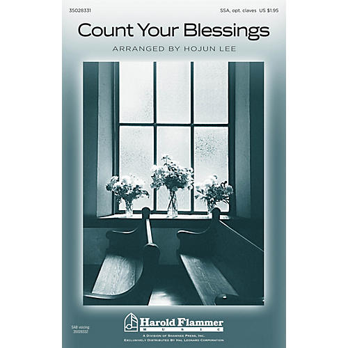 Shawnee Press Count Your Blessings SSA arranged by Hojun Lee