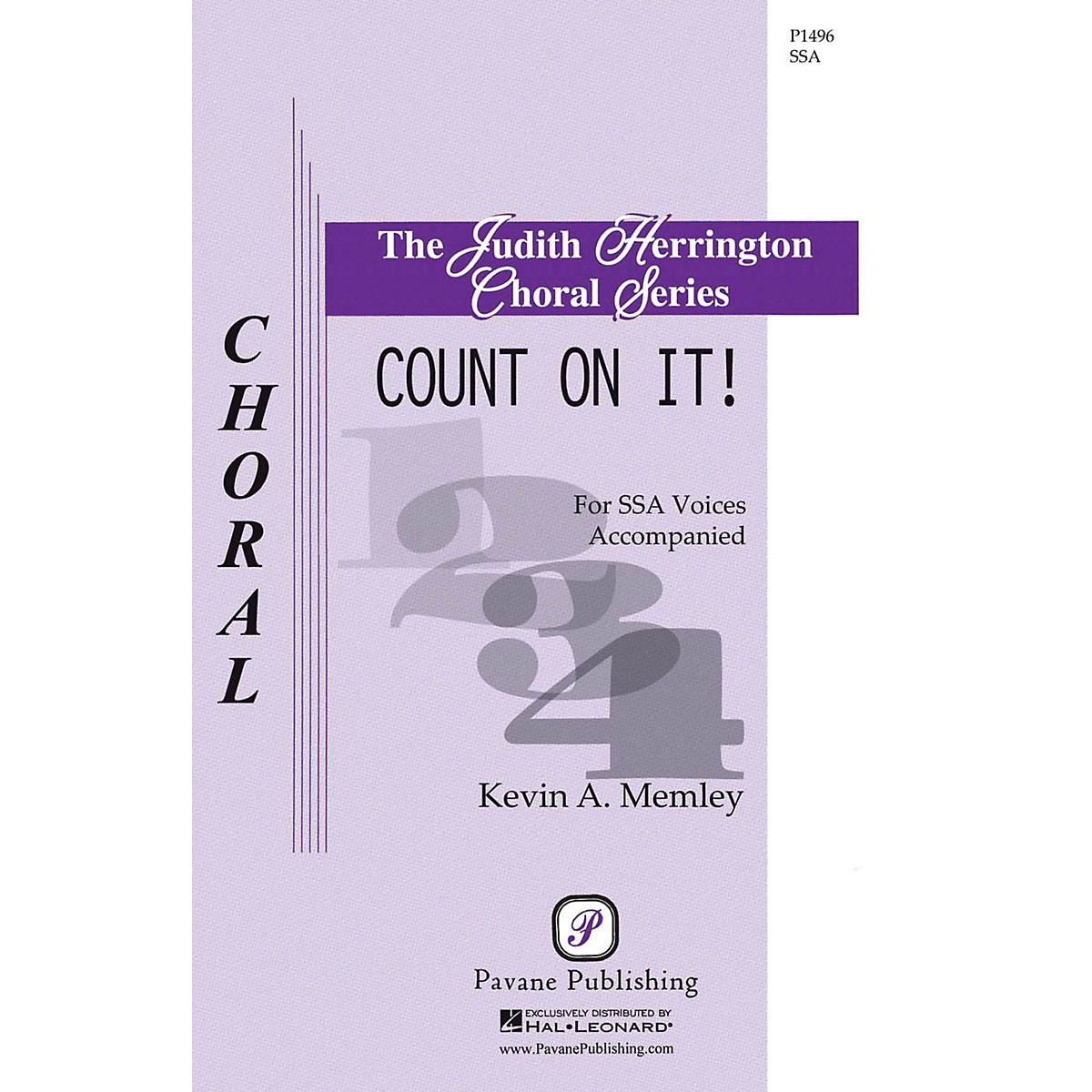 Pavane Count on It! SSA composed by Kevin Memley