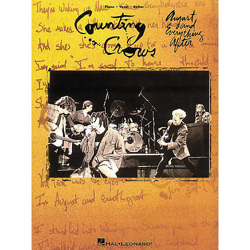 Hal Leonard Counting Crows - August & Everything After Piano, Vocal, Guitar Songbook