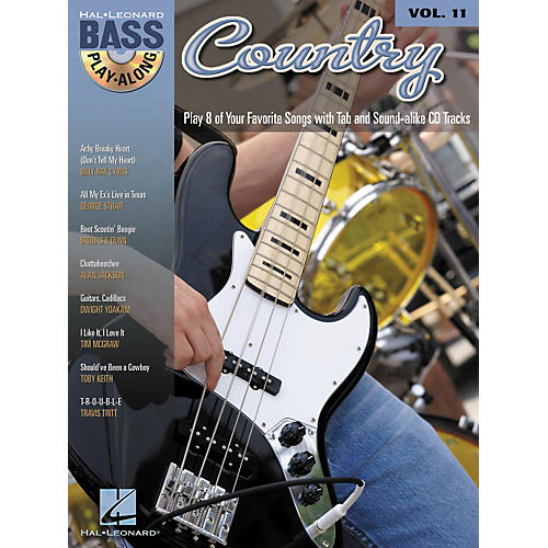 Hal Leonard Country - Bass Play-Along Volume 11 Book/CD
