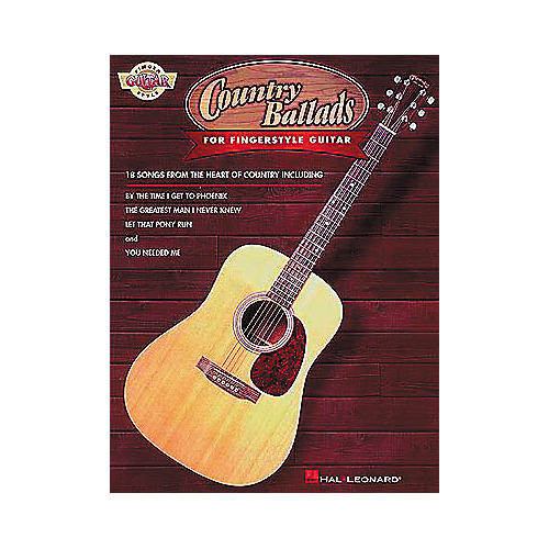 Hal Leonard Country Ballads for Fingerstyle Guitar Book